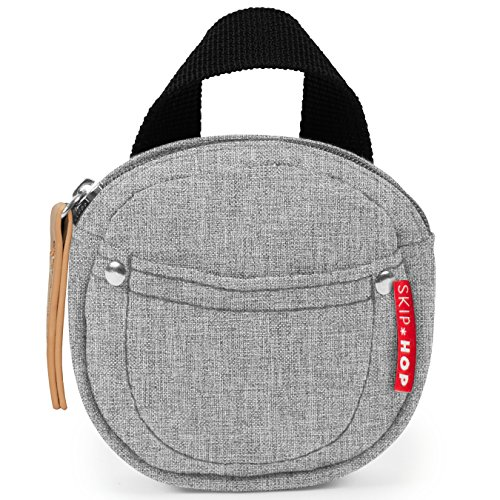 Skip Hop Grab & Go Pacifier Pocket, Grey