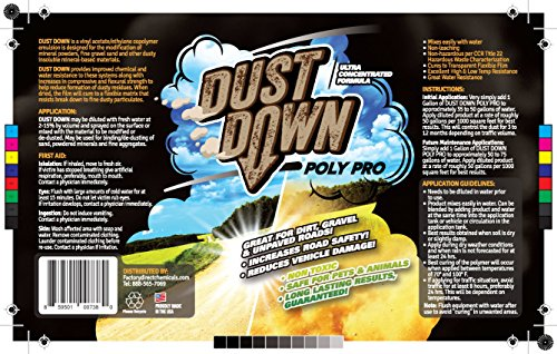 Green Gobbler Dust Down Poly PRO Polymer Road Dust Control | Dust Reducer for Driveway's, Roads & Construction Sites (5 Gallon Pail) by Green Gobbler (Image #1)