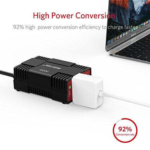 BESTEK 300W Power Inverter DC 12V to 110V AC Car Adapter with 4.8A Dual USB Charging Port by BESTEK (Image #3)