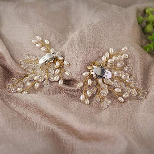 Haptian Schuhclip Hochzeitsschuhe Schnalle Clip-on Frauen Braut High Heel Charms Mode Dekoration Imitation Pearl