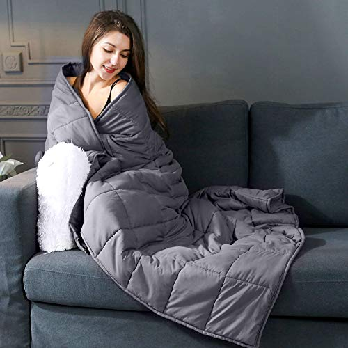 Cheap DECOSY Cooling Weighted Blanket 15 lbs 60
