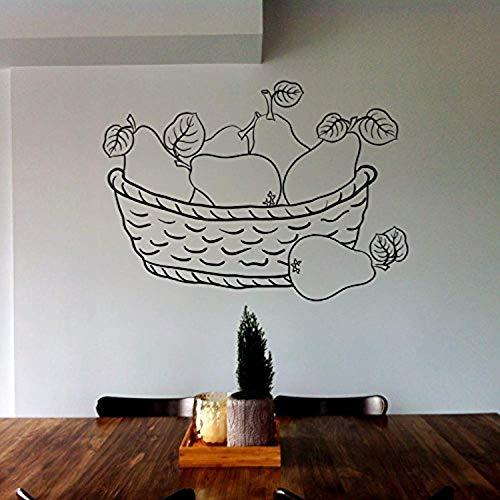 Sticker Decals Mural Room Design Decor Art Mexico Fruit Basket Pear Kitchen Berry Composition Wall Vinyl SK1257