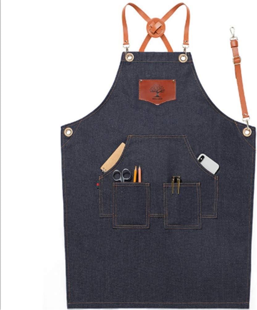 WOOLBRO Jardinage tablier avec plusieurs poches Réglable Ceinture Sangle Easy Clean