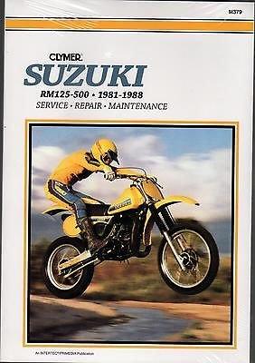 1981-1988 CLYMER SUZUKI MOTORCYCLE RM 125-500 CC SERVICE MANUAL NEW M379