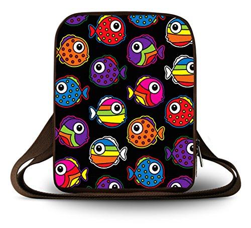 Lujo Bolsa Cruz de amp;apos Luxburg Eiffel diferentes lona Tour Cuerpo multiuso pequeño Hombro Coloured diseños Fishes 5q08wI8