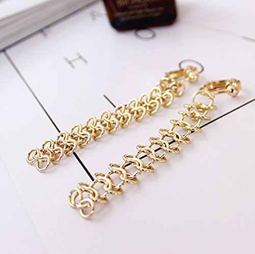 Back Clip on Earring Clip for No Piercing Dangle Long Tassel Gold Plated for Teens Multi Infinity