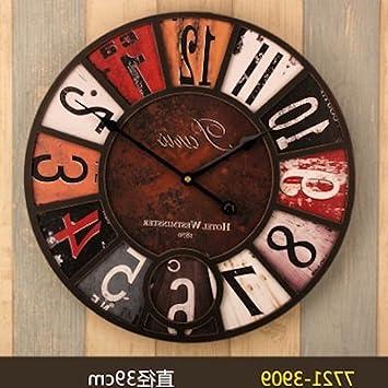 Y-Hui de 14 pulgadas relojes antiguos Reloj de pared Home Dormitorio Salón ronda el
