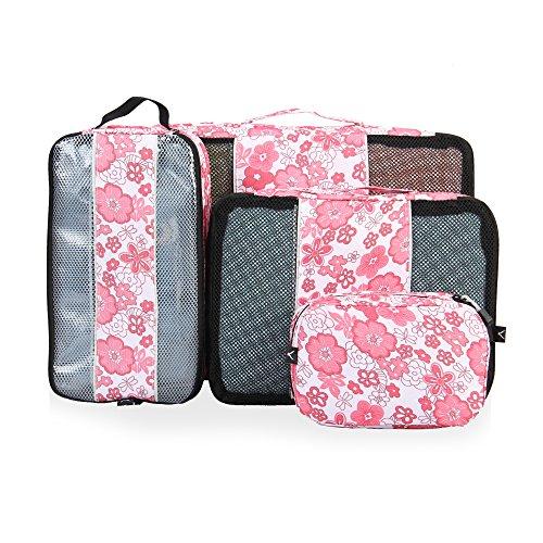 Veevan Cubi Dell'imballaggio del Pattino Borsa da Toilette Kit da Viaggio Organizer Set(Sakura)