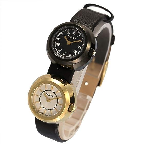2b52ccb612 MOUSSY 腕時計 マウジー 時計 ツイン ケース MOUSSY レディース ブラック ホワイト WM0011V1