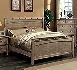 Best 247SHOPATHOME Bed Frames - 247SHOPATHOME IDF-7351EK Panel Bed, King, Oak Review