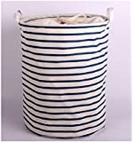 Moon's Habour Folding Large Waterproof Cloth Art Laundry Basket Clothes Toy Storage Organization Laundry Hampers With Cover