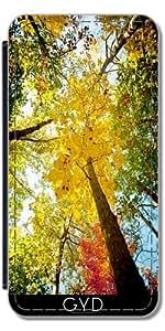 Funda Carcasa Cubierta de PU Cuero para Samsung Galaxy Ace 4 (SM-G357) - árboles by J McCool
