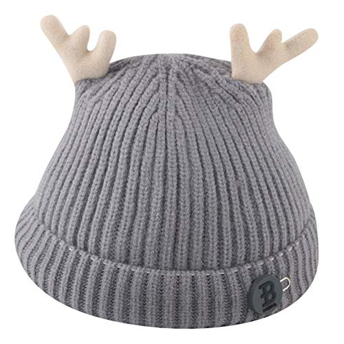 e1d8800a5c4 Inkach Baby Winter Warm Knit Hat - Cute Deer Ears Crochet Slouchy Beanie Cap  Christmas Hats