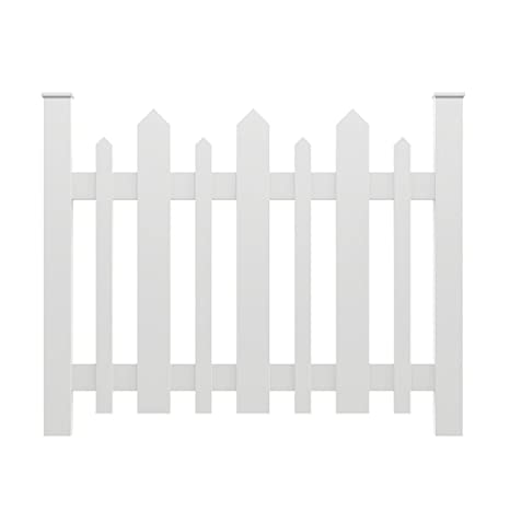 YardSmart® 73004182 Picket Accent Fence, White