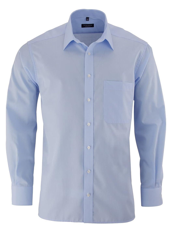 eterna Comfort Fit Shirt Long sleeve light blue W40, L?nge shortened (59cm)