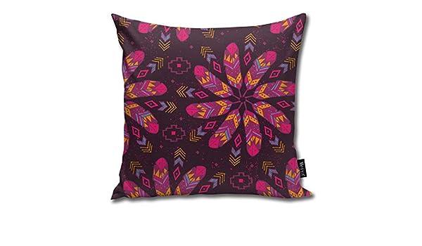 Zara-Decor - Funda de cojín con diseño de Plumas Bohemias ...