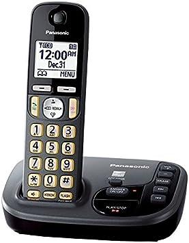 Panasonic kx-tgd220 m teléfono inalámbrico con contestador automático máquina 1 terminal (Certificado Reformado) (KX-TGD220 N metálico gris): Amazon.es: Electrónica