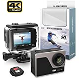 Yikoo 2.0 IPS 4K Ultra HD Sport Action Camera with WIFI, 30M Waterproof DV Camcorder, 170° Super Wide Angle Lens Mounting Accessories Kit.