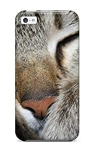 Oscar M. Gilbert's Shop Best Series Skin Case Cover For Iphone 5c(closeup Gray Cat Face)