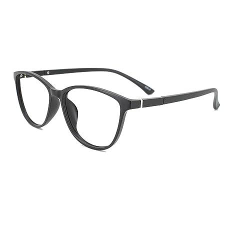 5aeea4dc51 Amazon.com  EyeBuyExpress Bifocal Prescription Mens Womens Black Cat Eye  Style Retro Reading Glasses Lightweight Anti Glare Quality +2.00  Health    Personal ...