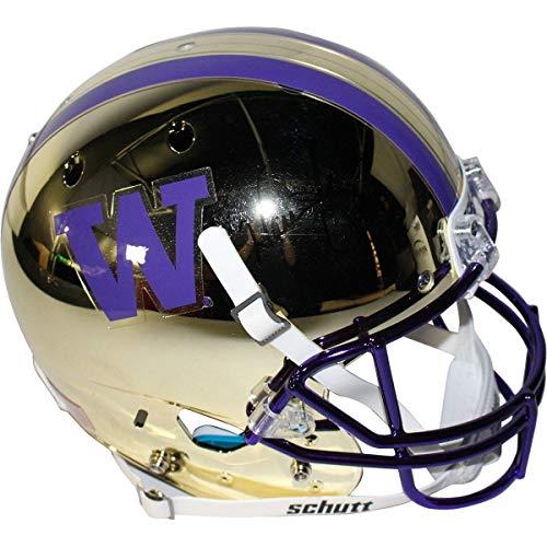 (Warren Moon Signed Washington Huskies Full Size Replica Helmet - Steiner Sports Certified - Autographed College Helmets)