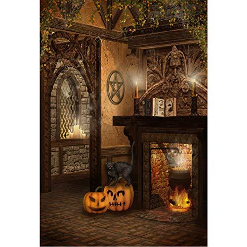 Baocicco Halloween Backdrop Wizard House Interior 5x7ft Vinyl