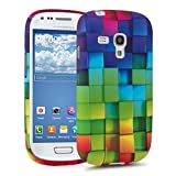 kwmobile TPU SILICONE CASE for Samsung Galaxy S3 Mini Rainbow Cubes multicolor green blue - Stylish designer case made of premium soft TPU