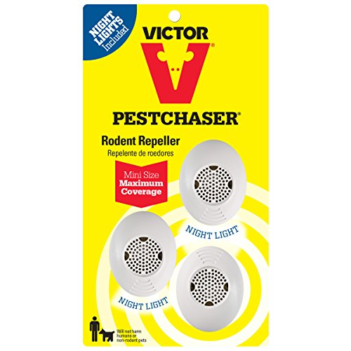 Victor Mini M753SN Ultrasonic Rodent Repeller with Nightlight, 3-Pack (Not available in HI, NM, PR)