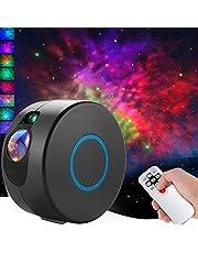 CAMPSLE Projektor z gwiazdą LED, mgiełką, 7 efektów świetlnych, do pokoju zabawy, kolorowy projektor do sypialni, oświetlenie nocne, nastrojowe oświetlenie do domu, prezent, Boże Narodzenie