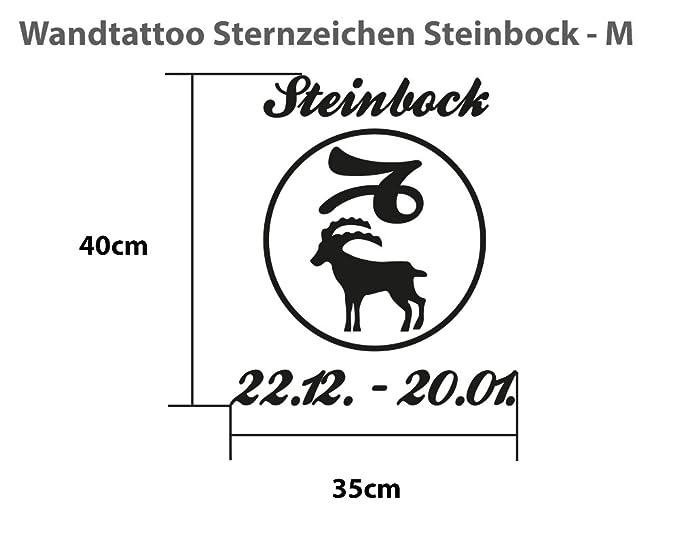 WandTattoo Capricornio (- M - 35 cm x 40 cm - 23 de colores ...