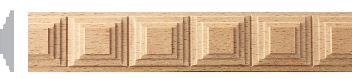 1-3/8W--1-1/4W x 8ft, 10pc, 80ft, Maple Red Oak Wood Square Key Moulding, Trim (1-1/4W X 1/4TH X 8FT, Red Oak) Zakros Design