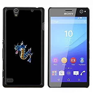 """Be-Star Único Patrón Plástico Duro Fundas Cover Cubre Hard Case Cover Para Sony Xperia C4 E5303 E5306 E5353 ( Azul P0kemon"""" )"""