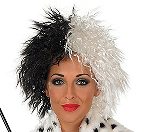 Cruella De Ville Wig 101 Dalmations Halloween Fancy Dress (peluca): Amazon.es: Juguetes y juegos