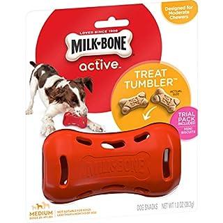 Milk-Bone Active Treat Tumbler, Interactive Dog Treat Dispensing Dog Toy for Medium Treats
