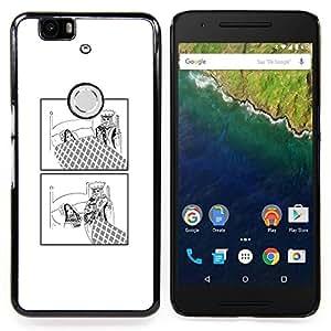 """Qstar Arte & diseño plástico duro Fundas Cover Cubre Hard Case Cover para Huawei Google Nexus 6P (Divertido Rey"""")"""