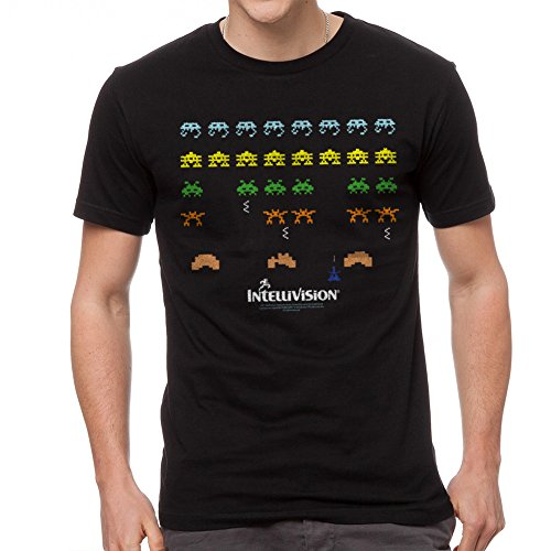 Intellivision 1981 Video Game Space Armada Aliens Adult T-Shirt Tee