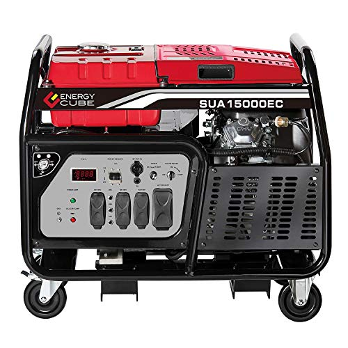 A-iPower SUA15000ECV 15000-Watt Portable Generator Gas Powered Electric Start, 15000 Rated Watt/12000 Running Watt, EPA/CARB Sell to All 50 States