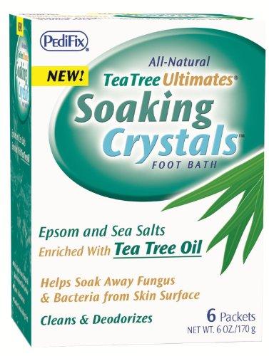 Tea Tree Pedifix Ultimates Trempage bain de pieds Cristaux, 1 once, 6 paquets