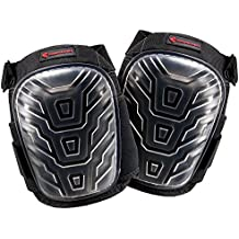 Professional Kneepads with Multi Layered Gel Cushion - Heavy Duty Caps - for Work at Home, Garden, Construction, Roofing, Cleaning by TorbinsFamily
