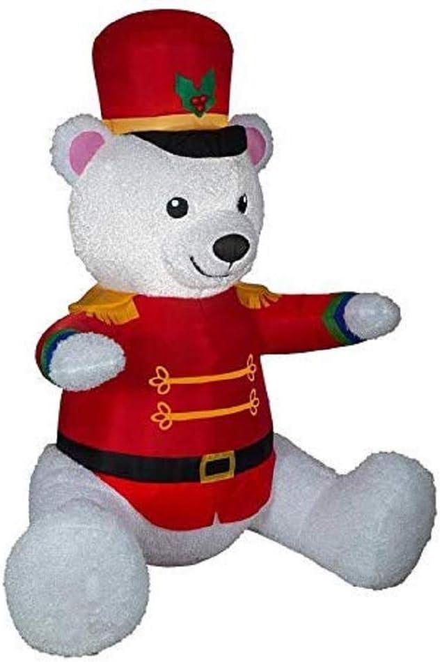 Holiday Living Christmas Airblown Nutcracker Santa Bear Inflatable 7 Ft Yard Display Amazon Ca Patio Lawn Garden
