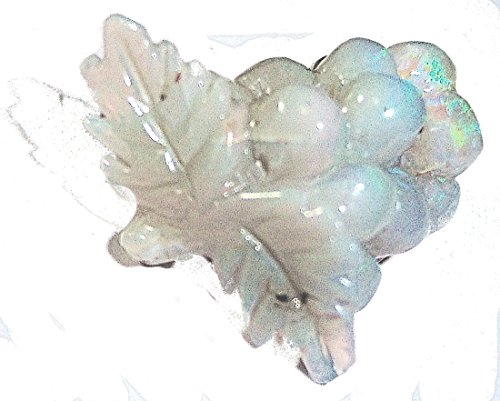 Lovely Natural Australian opal Carving - a bunch of grapes (17.5mm) (Grape Carving)
