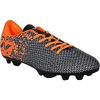 Nivia Premier Carbonite Football Studs (Black/Orange)