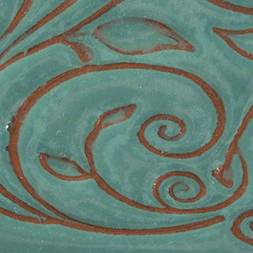 AMACO Opalescent Glaze, Aquamarine O-21, 1 Pint