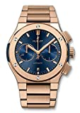 Hublot Classic Fusion Chronograph 45mm Mens Watch Rose Gold Blue Dial