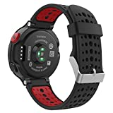 Garmin Forerunner 235 Accessories, MoKo Soft Silicone Replacement Watch Band for Garmin Forerunner 235 / 220 / 230 / 620 / 630 / 735 Smart Watch - BLACK & RED