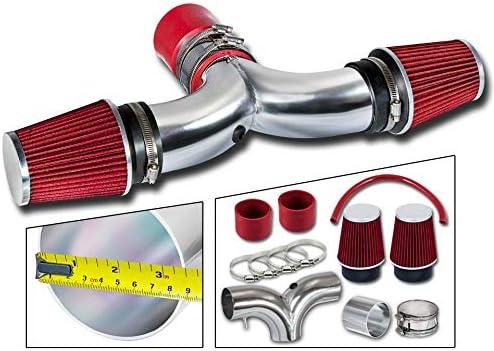 Rtunes Racing Short Ram Air Intake Kit 2 Filters Filter Combo RED For 03-08 Dodge Ram Hemi // 04-07 Dodge Durango Hemi 5.7L V8 with DUAL