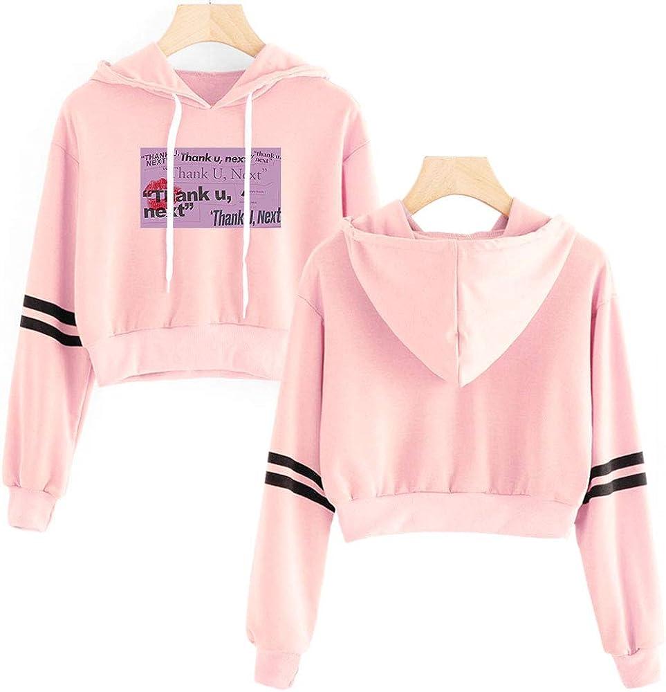 Sweat /à Capuche 3D Imprim/é Manches Courtes Mode Casual Pullover Sweatshirt MR.YATCLS Ariana Grande Hoodie