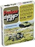 Preiser 16591 Former German Army WWII Artillery PAK L/45 3.7cm Anti Tank Gun In Action w/Gun Crew HO Scale Military Model Figure