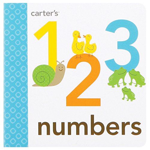 C.R. Gibson Number Book Numbers and Colors for Toddlers, 4.8 x 4.6 x 0.5 inches, 1 Piece
