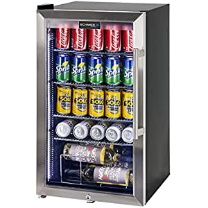 Schmick Outdoor Triple Glazed Alfresco Bar Fridge with Led Strip Lights, Lock and Low E Glass - HUS-SC88L-SS